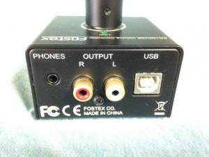 PC100USB Fostexボリュームコントローラー 裏面
