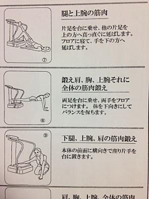 クレイジーフィットネス(Crazy Fitness)振動マシン運動例3