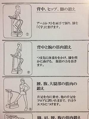 クレイジーフィットネス(Crazy Fitness)振動マシン運動例1