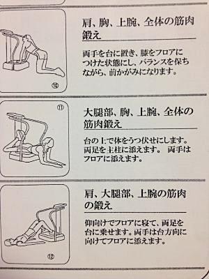 クレイジーフィットネス(Crazy Fitness)振動マシン運動例4