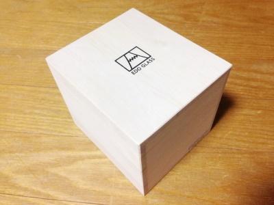 江戸硝子 富士山ロックグラス 木の箱