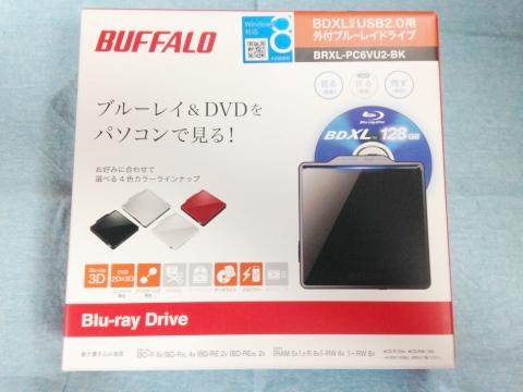 バッファローポータブルブルーレイドライブBRXL-PC6VU2-BK