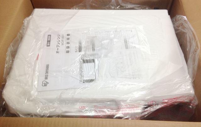 アイリスオーヤマMO-F1801 ダンボール開封2 説明書