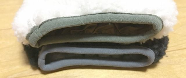 キッズXL メンズXS レトロX袖口のサイズ感比較
