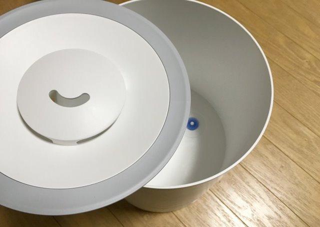 キシマの加湿器KNA88070蓋アップ