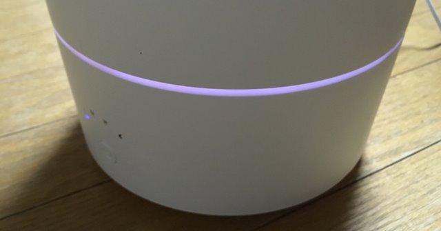 キシマの加湿器KNA88070LEDライトパープル
