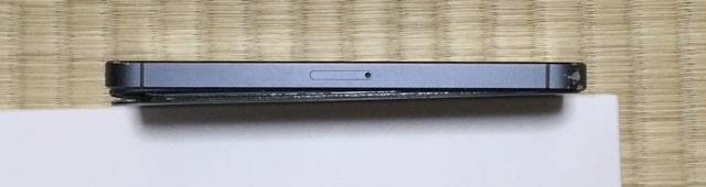 バッテリー膨張したiPhone5サイド2